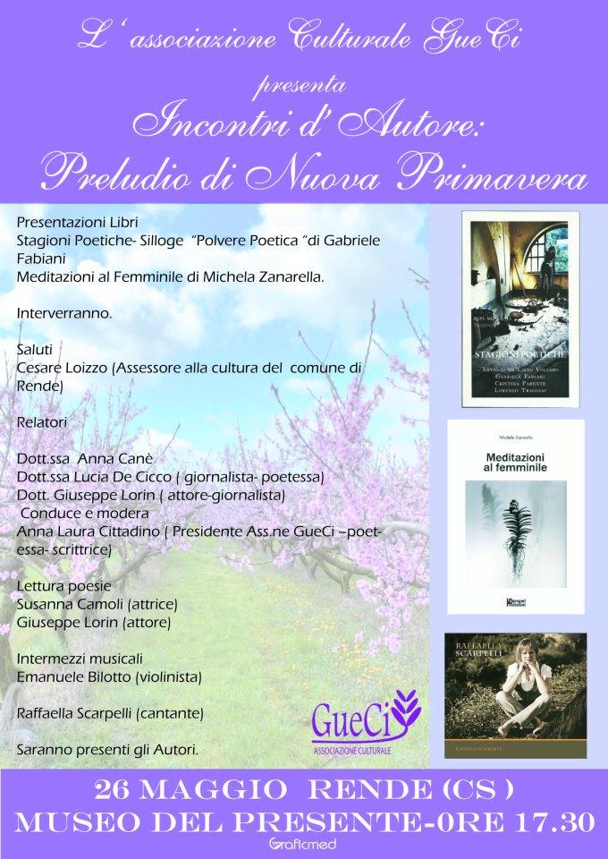 Incontri d'Autore: Preludio di nuova primavera