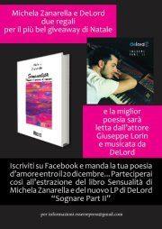 """Giveaway """"Sensualità + Sognare part II"""", in regalo una copia autografata della silloge di Michela Zanarella e una copia del cd del pianista DeLord"""