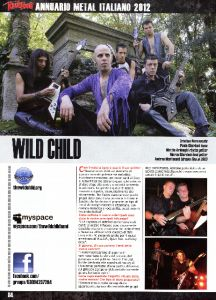 The Wild Child, sangue metal su Rock Hard