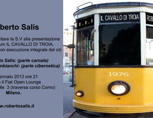 """Al Fiat Open Lounge di Milano Roberto Salis presenta """"Il Cavallo di Troia"""""""