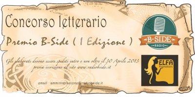 """Concorso Letterario """"Premio B-Side"""" Prima edizione"""