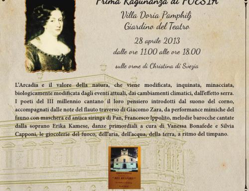 A Villa Pamphilj la Prima Ragunanza sulle orme di Christina di Svezia