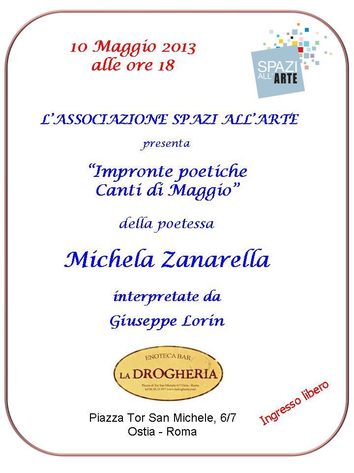 """""""Impronte Poetiche Canti di Maggio"""" di Michela Zanarella"""