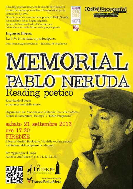 A quaranta anni dalla morte, a Firenze si ricoderà Pablo Neruda con un reading poetico