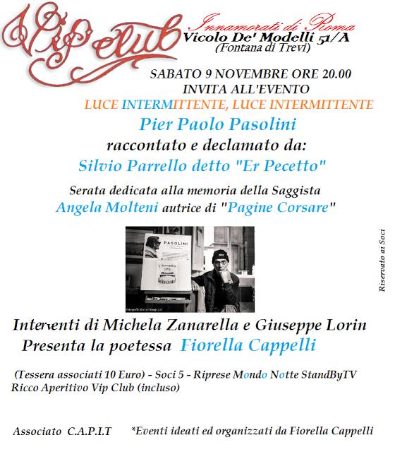 Luce Intermittente: Silvio Parrello racconta Pasolini al Vip Club