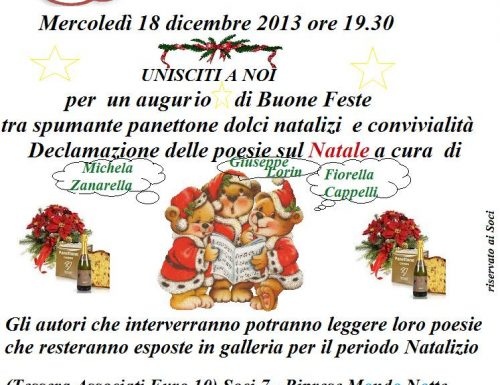 Brindisi e declamazione di poesie sul Natale a Fontana di Trevi