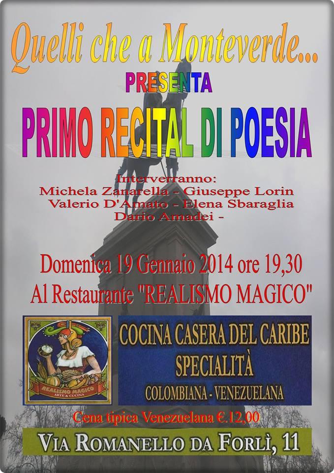 """Primo Recital di Poesia """"Quelli che a Monteverde…"""""""