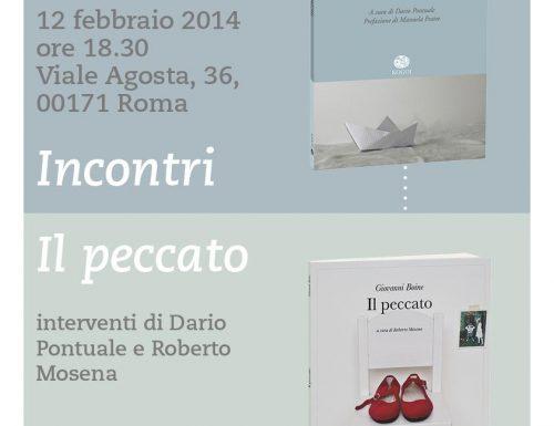 """""""Incontri"""" e """"Il peccato"""" alla Libreria Rinascita di Viale Agosta"""