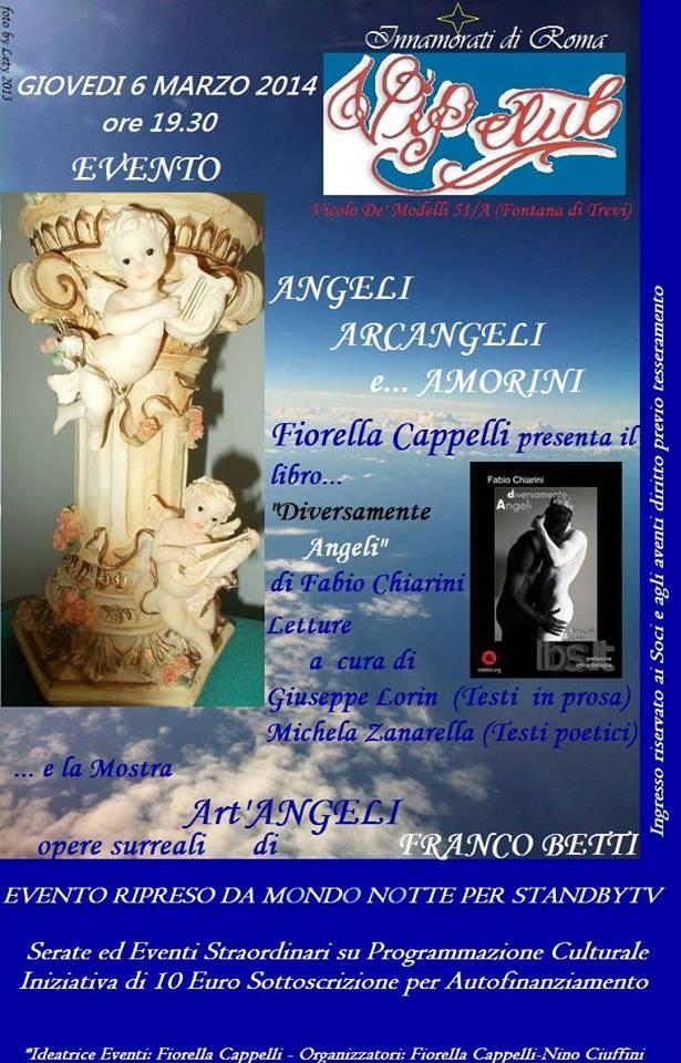 Angeli Arcangeli e…Amorini al Vip Club Innamoràti di Roma