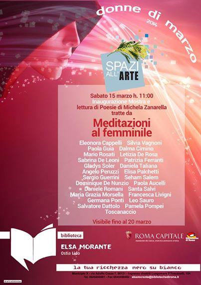 Meditazioni al femminile alla Biblioteca Elsa Morante di Ostia