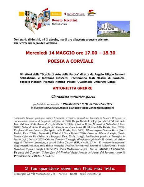 Presentazione di Pigmenti e altri inediti di Antonietta Gnerre a Corviale