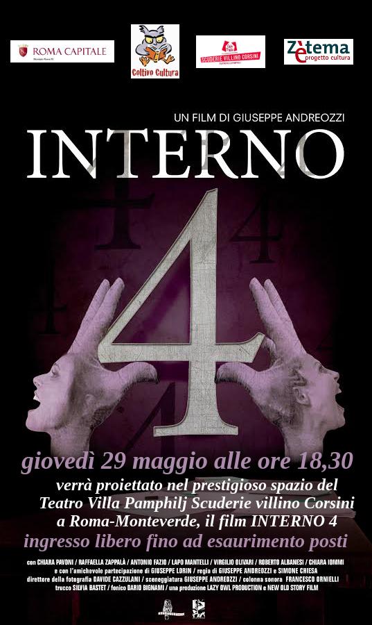 Interno 4, il film di Giuseppe Andreozzi e Simone Chiesa alle Scuderie Corsini a Roma