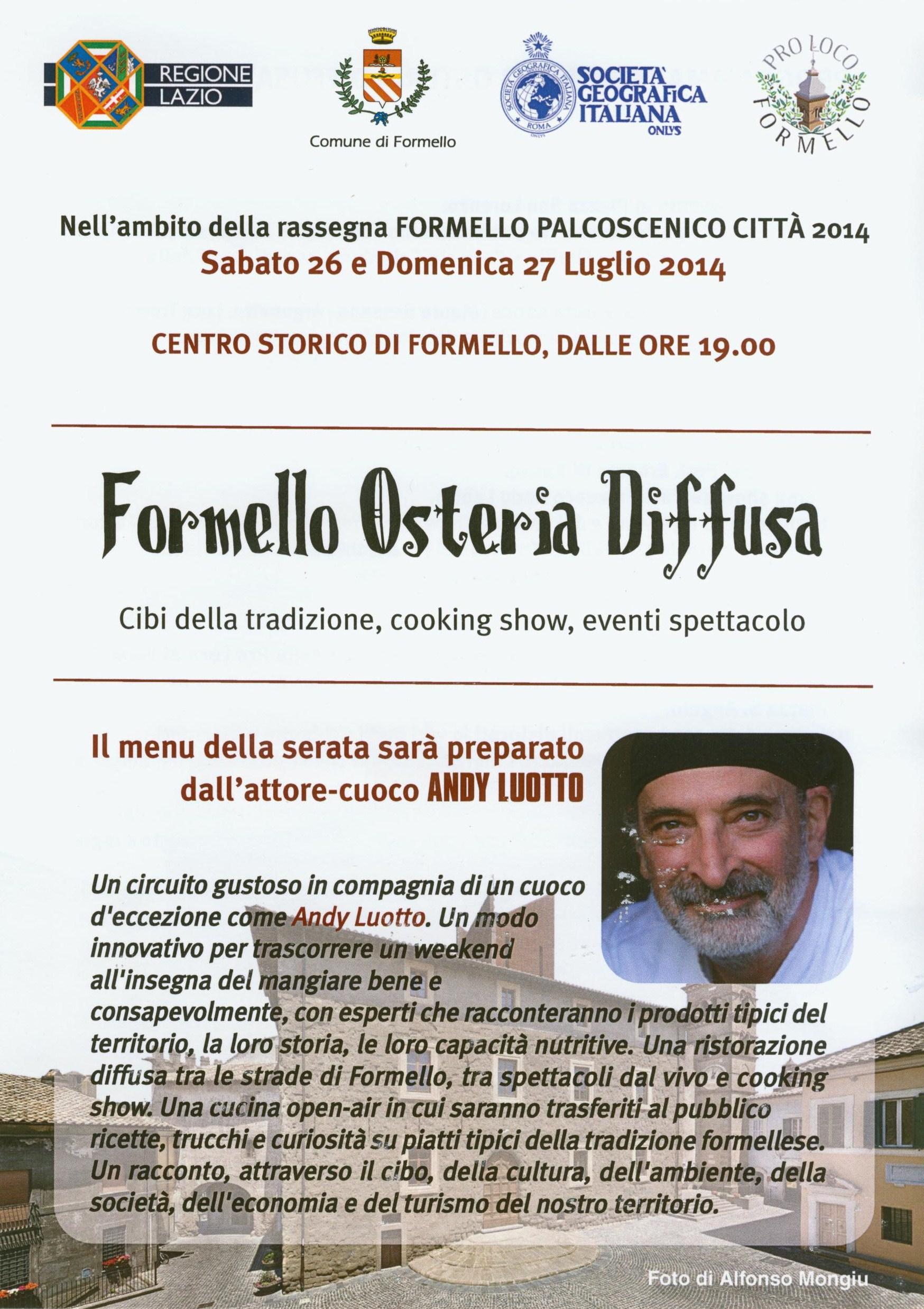 Formello Osteria Diffusa – 26 e 27 luglio 2014