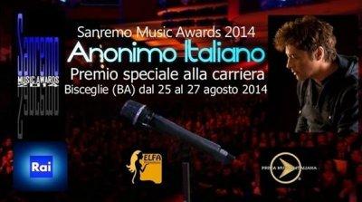 Anonimo Italiano al Sanremo Music Awards