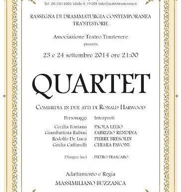 Al Teatro Trastevere va in scena Quartet con la regia di Massimiliano Buzzanca