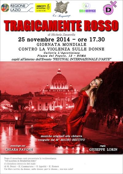 """""""Tragicamente rosso"""" al Festival Internazionale d'Arte"""
