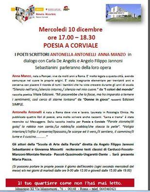 """Antonella Antonelli e Anna Manzo alla Biblioteca """"Renato Nicolini"""" ex Corviale"""