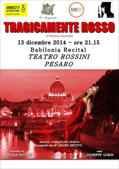 Tragicamente rosso al Teatro Rossini di Pesaro