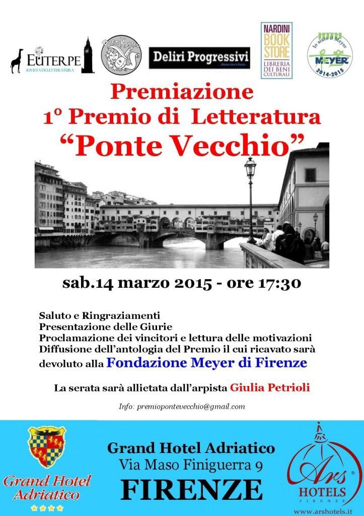 """A Firenze la premiazione del 1° Premio di Letteratura """"Ponte Vecchio"""""""