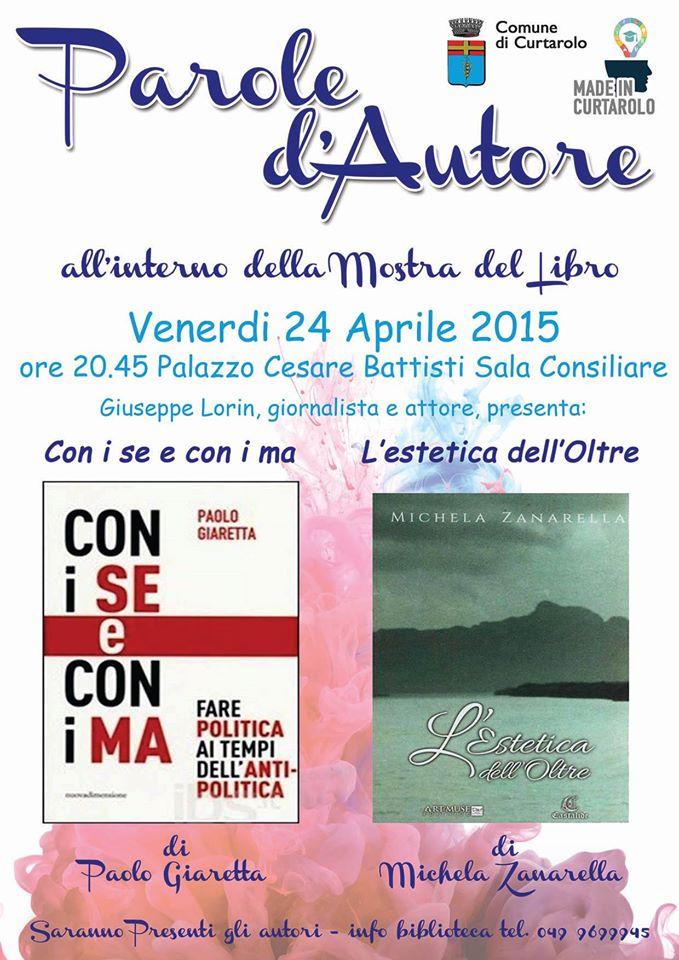 Paolo Giaretta e Michela Zanarella a Curtarolo per la rassegna Parole d'autore