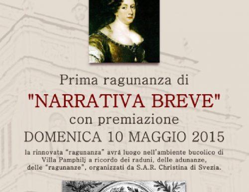 Prima Ragunanza di narrativa breve: il 10 maggio la premiazione