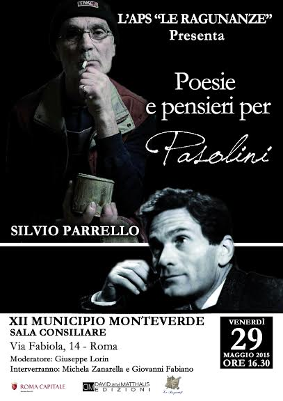 Al Municipio Roma XII la presentazione di Poesie e pensieri per Pasolini