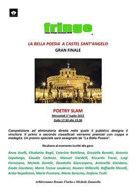 "Poetry Slam de ""La Bella Poesia"" al Roma Fringe Festival"