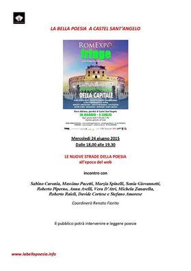 Le nuove strade della poesia, dibattito a Castel Sant'Angelo