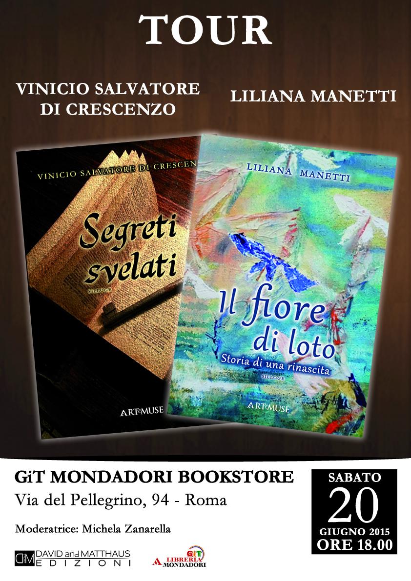 Vinicio Salvatore Di Crescenzo e Liliana Manetti alla libreria Git Mondadori Bookstore di Roma