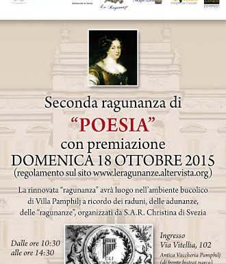 A Villa Pamphilj la premiazione della Seconda Ragunanza di Poesia