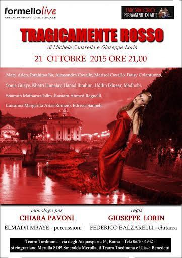 """Il 21 ottobre al Teatro Tordinona """"Tragicamente rosso"""""""