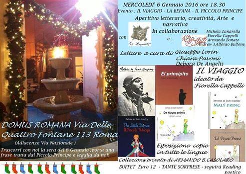 6 Gennaio: Aperitivo letterario alla Domus Romana