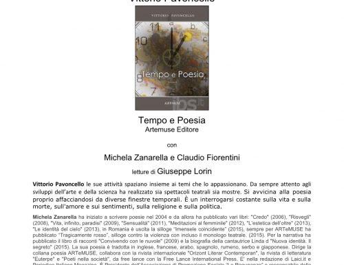 Tempo e poesia, il libro di Vittorio Pavoncello alla Biblioteca Nelson Mandela