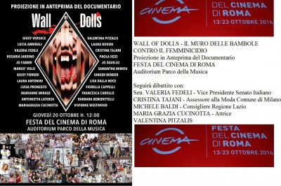 "Alla Festa del Cinema di Roma il docufim ""Wall of Dolls"""