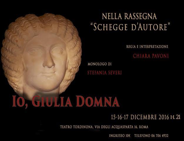 Le donne di Roma antica dicono la loro al Tordinona per Schegge d'Autore