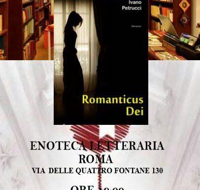 """Presentazione di """"Romanticus Dei"""" all'Enoteca Letteraria"""