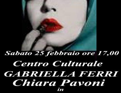 """Chiara Pavoni in """"Shabnam"""" al centro culturale Gabriella Ferri"""