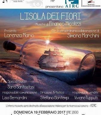 L'Isola dei Fiori, un evento a favore dell'AIRC a Roma