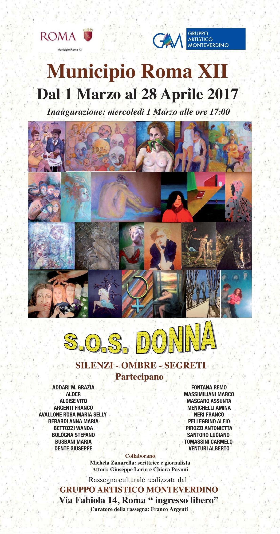 S.O.S. Donna, una rassegna culturale al Municipio Roma XII
