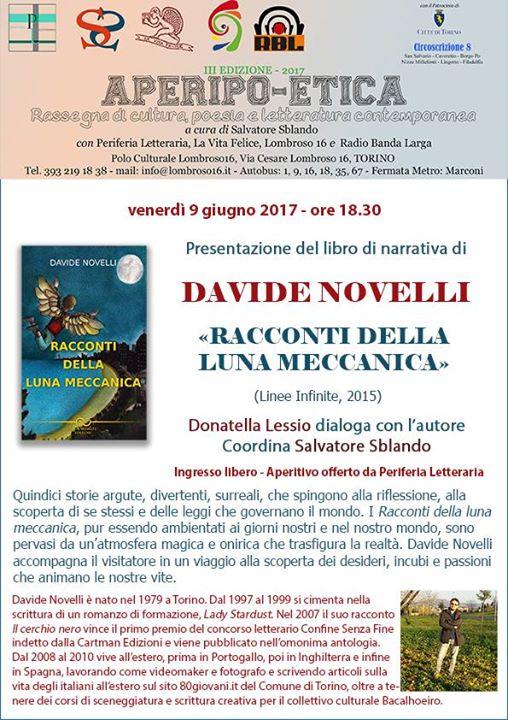 Chiara Pavoni ad Aperipo-Etica con Davide Novelli