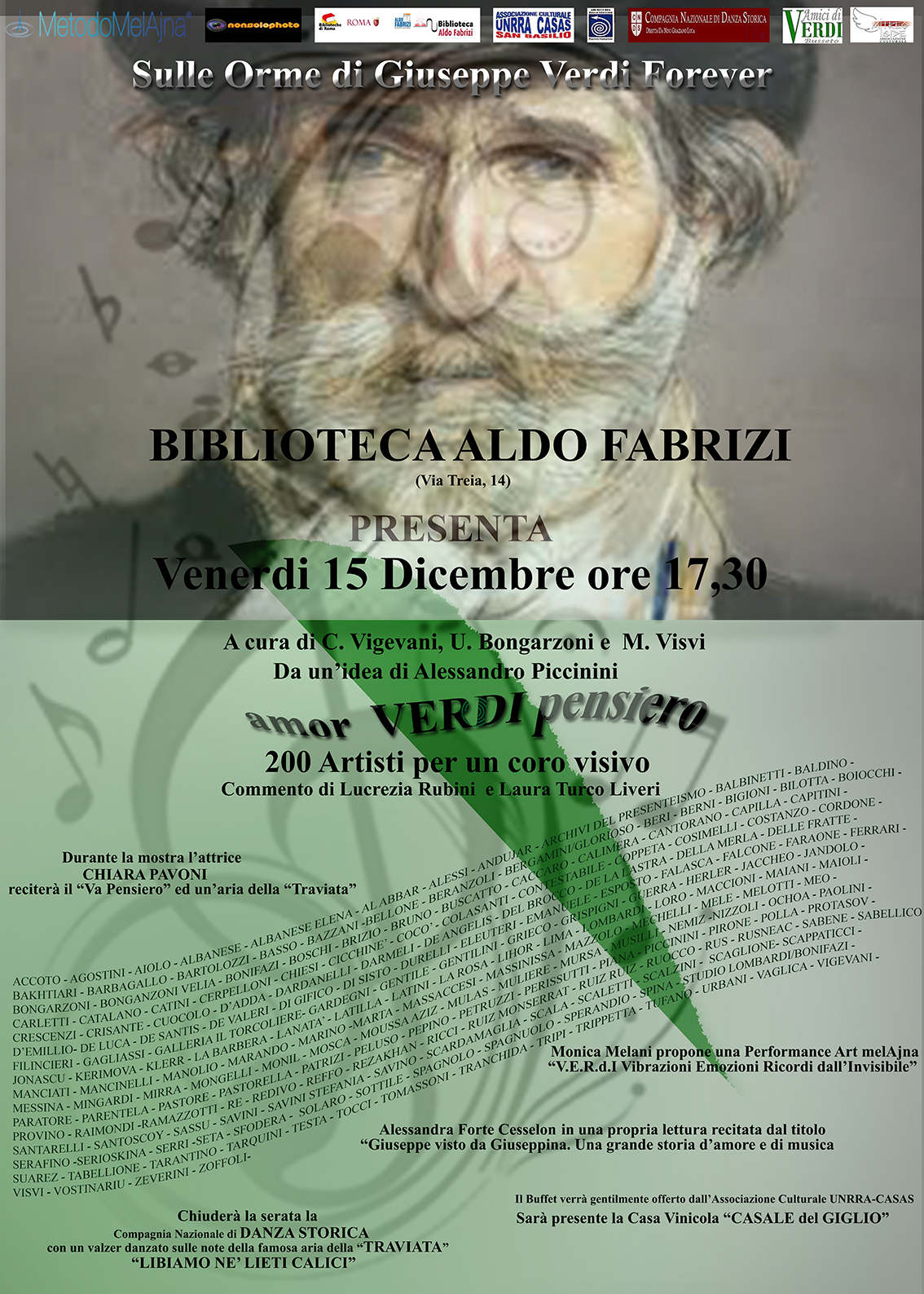 "Chiara Pavoni alla mostra ""Amor Verdi pensiero"""