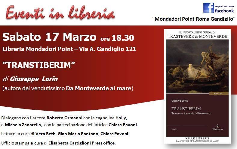"""""""Transtiberim"""" alla Libreria Mondadori Point Gandiglio"""