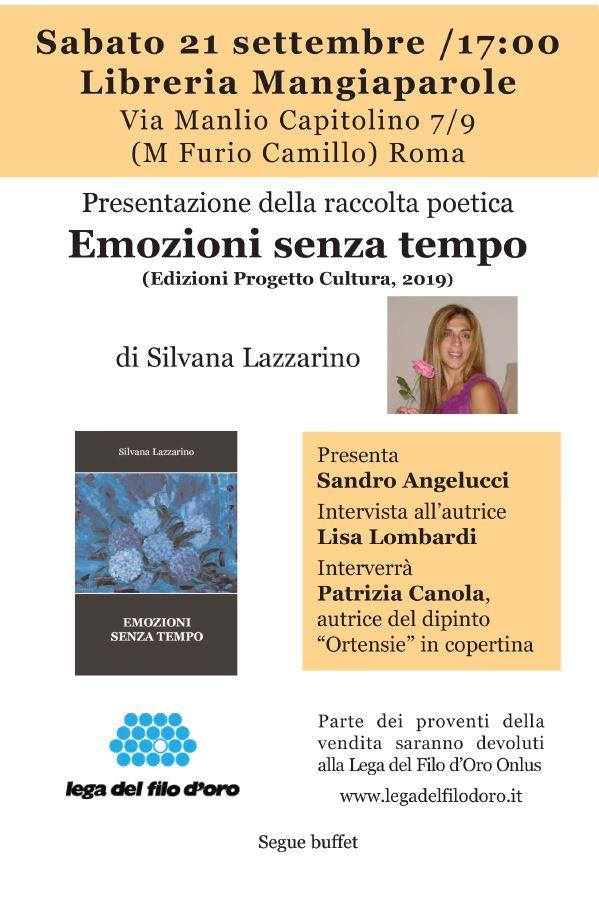Alla Libreria Mangiaparole la presentazione del libro di Silvana Lazzarino