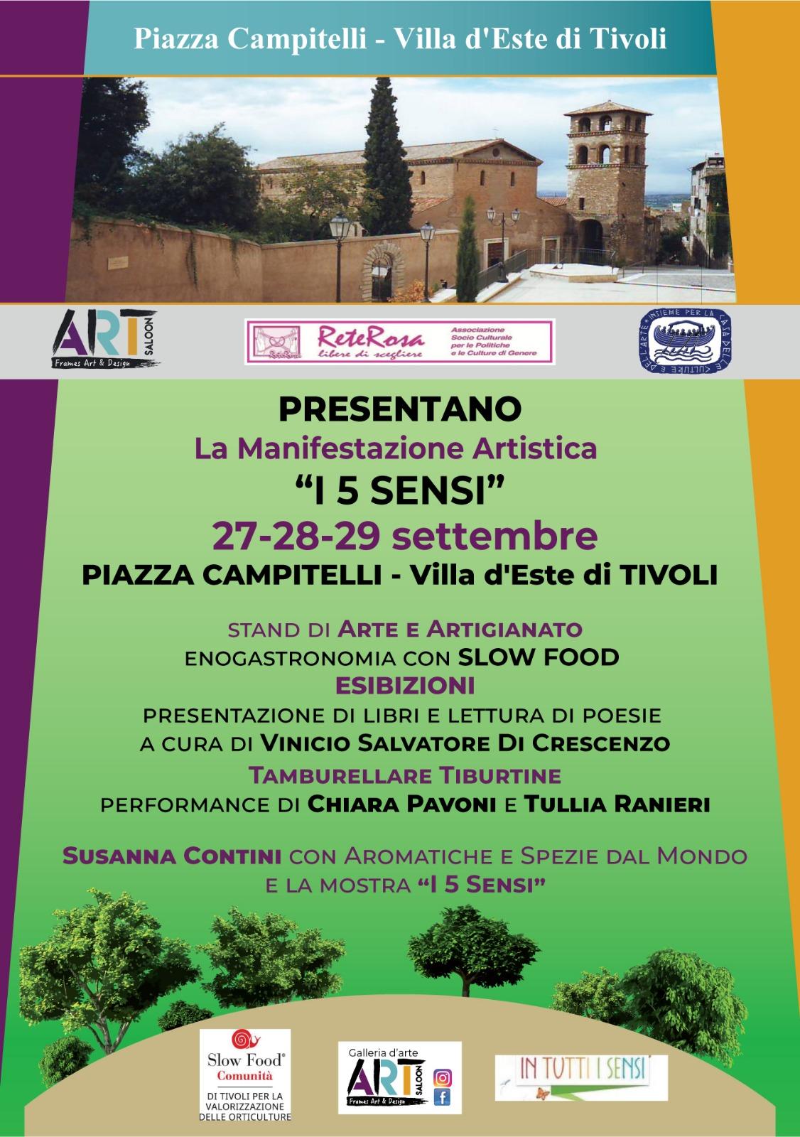 I 5 sensi a Villa d'Este di Tivoli