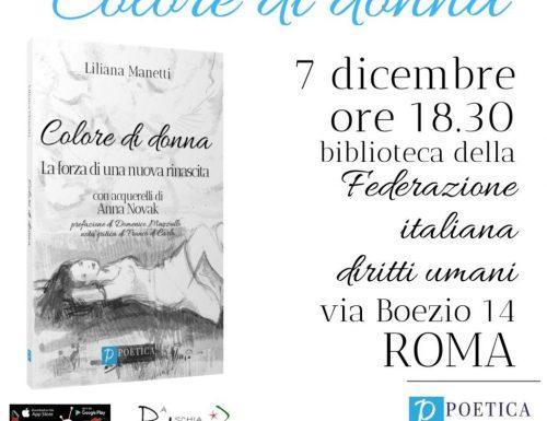 A Roma la presentazione del libro 'Colore di donna'